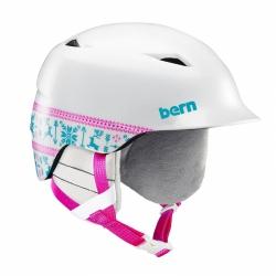 Dětská helma Bern Camino satin white fair isle 2019/2020