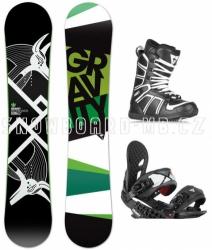 Snowboard komplet Gravity Cosa wide (široký snowboard)