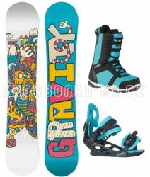 Dětský snowboard komplet Gravity Fairy blue
