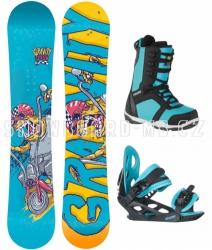 Chlapecký snowboard komplet Gravity Flash blue