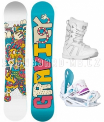 Snowboard komplet pro holky Gravity Fairy white