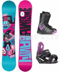 Dámský snowboard komplet Gravity Trinity purple