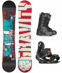 Snowboard komplet Madball red
