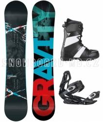Snowboard komplet Gravity Team white