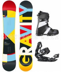 Snowboard komplet Gravity Contra white