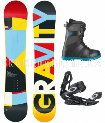 Snowboard komplet Gravity Contra blue