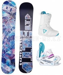 Dámský snowboard komplet LTD Angel white