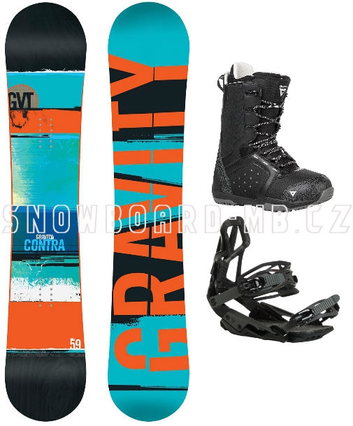 d4254ac70 Snowboard komplet Gravity Contra black | Snowboard-Shop.Net